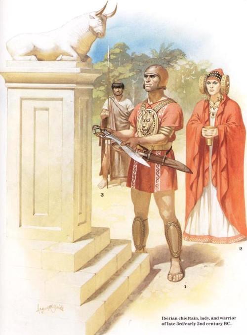 Иберийский вождь, знатная женщина и воин (конец III - начало II в. до н.э.)