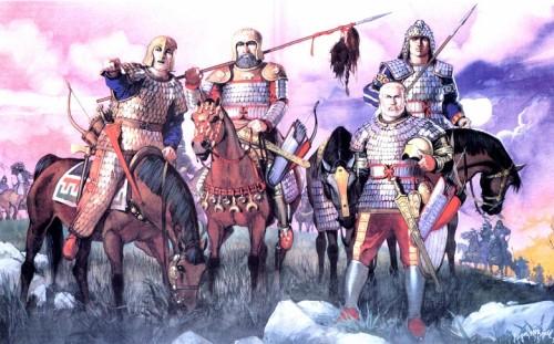 Иберийские воины с пленным римским легионером (конец II в. до н.э.)