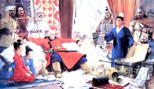 Аттила принимает дань от китайцев (V в. н.э.)