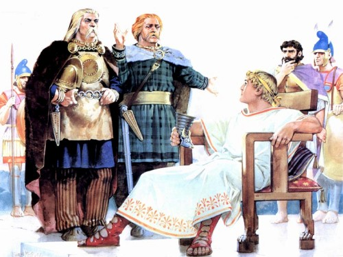 Кельты у стен этрусского города (Северная Италия, 375 г. до н.э.)