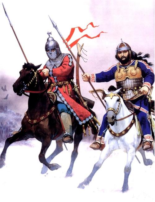 Лангобарды, подстрелившие франка (Северная Италия, VIII в. н.э.)