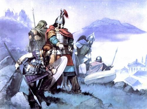 Кельтские воины отправляются в набег (Центральная Франция, IV в. до н.э.)