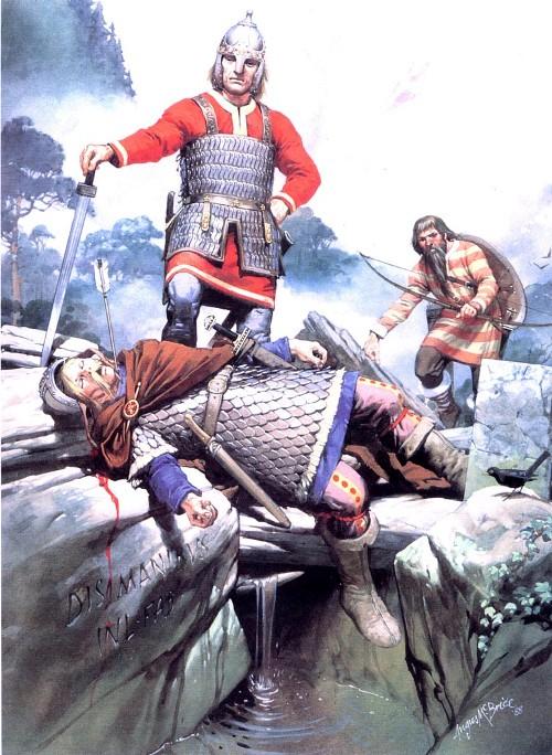 Стычка между викингами и конницей Каролингов неподалеку от Парижа (IX в. н.э.)