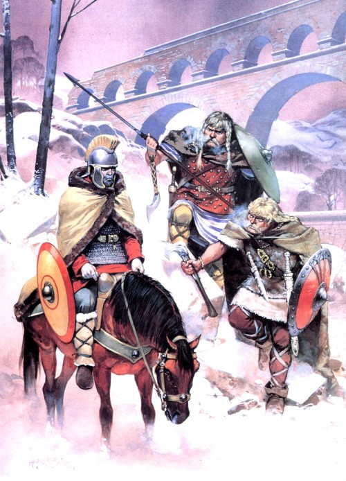 Нападение франков на римлянина (Северная Франция, IV в. н.э.)