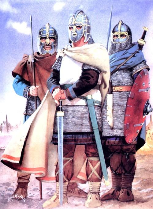 Аварский и болгарский всадники (Восточная Европа, VIII в. н.э.)