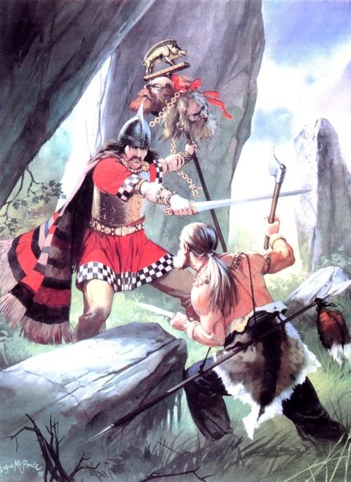 Поединок между кельтом и германцем (Центральная Европа, около 100 г. до н.э.)