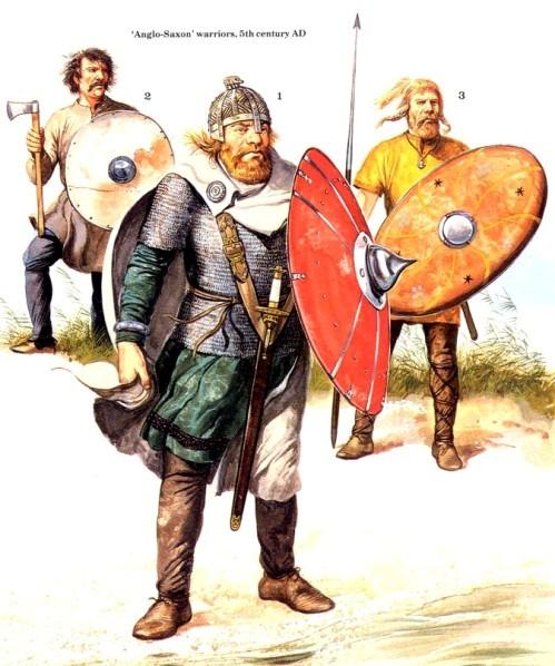Англо-саксонские воины (V в. н.э.)