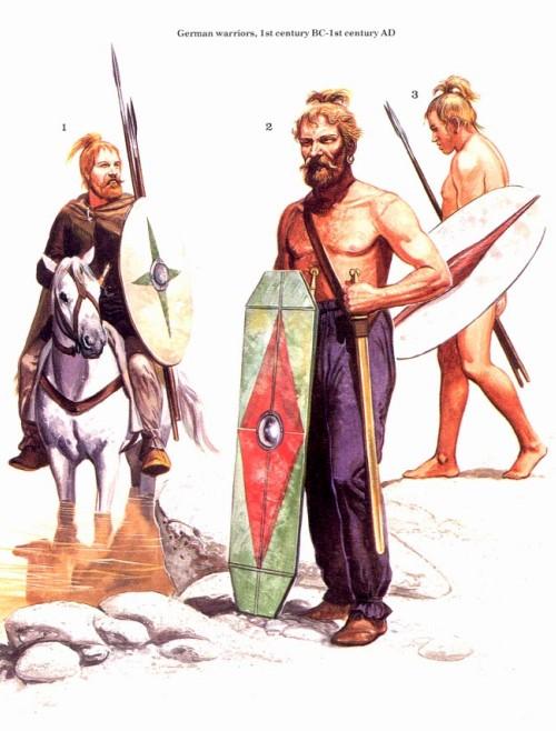 Германские воины (I в. до н.э. - I в. н.э.)