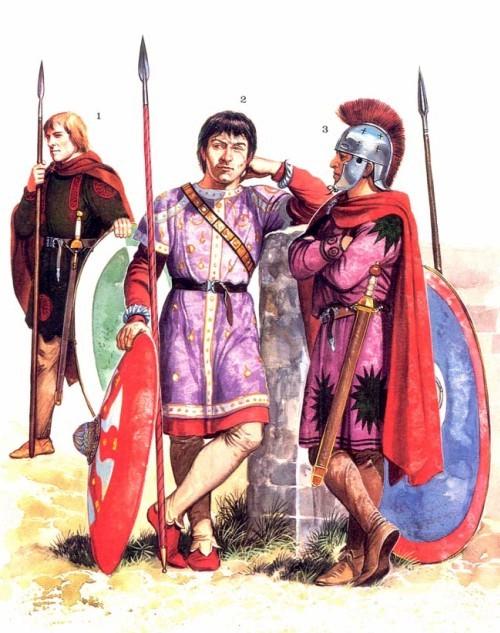 Германские воины на римской службе (IV-V в. н.э.)