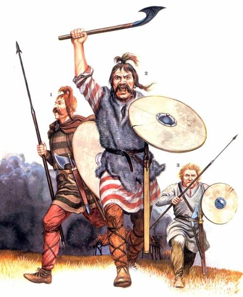 Франкские воины (V в. н.э.)