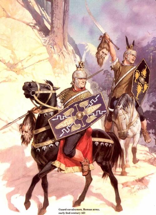 Галлы на службе рима - римская гвардейская кавалерия (начало II в. н.э.)