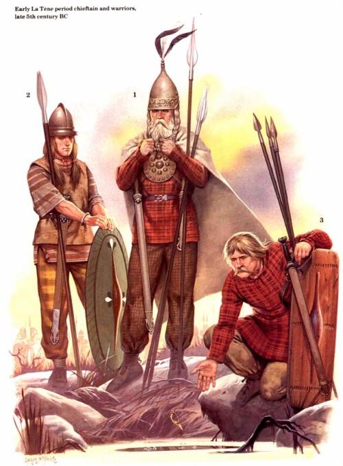 Вождь и воины периода Латена (конец V в. до н.э.)