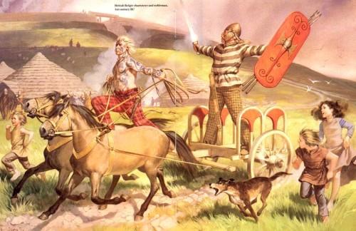 Боевая колесница белгов (I в. до н.э.).