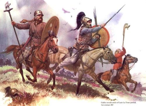 Галльская кавалерия конца Латена (I в. до н.э.).