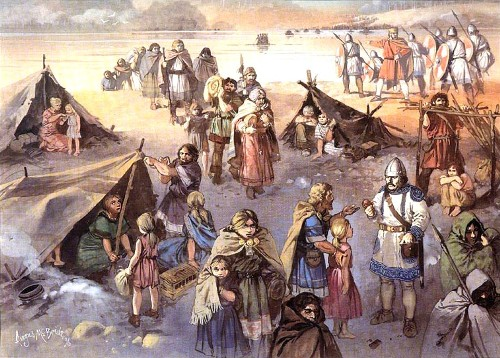 Готы переселяются к Дунаю (376 г.н.э.)