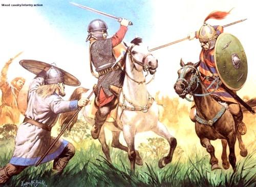 Совместный бой кавалерии и пехоты