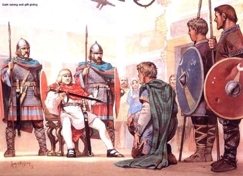 Принятие присяги и вручение меча