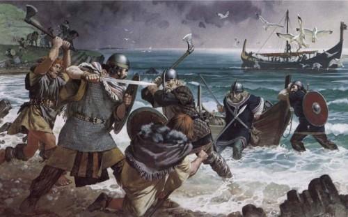 Бой ирландцев с викингами (IX в.н.э.)