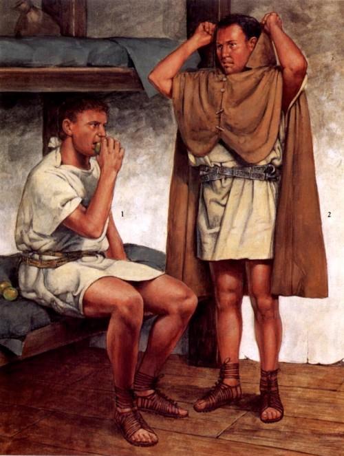 1, 2 - преторианские гвардейцы на отдыхе (начало I в. н.э.)