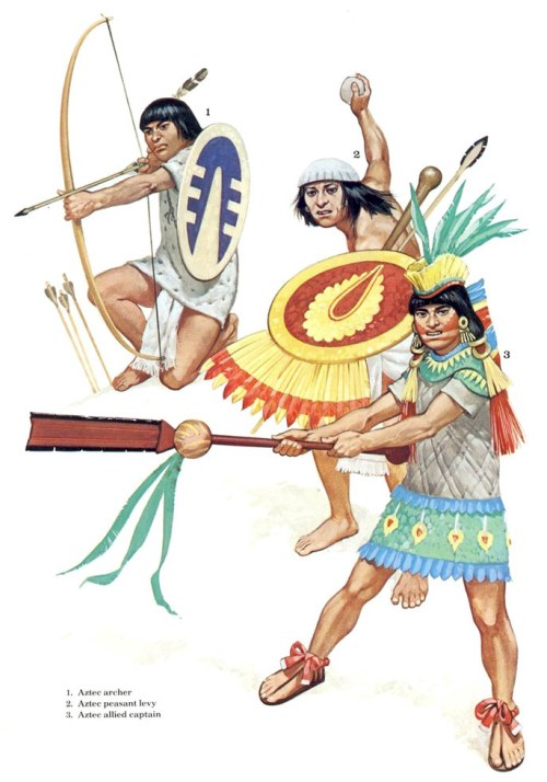 1 - Империя Инков: воин чинчайсуйю; 2 - Империя Инков: пращник кечуа; 3 - Империя Инков: воин чимора.