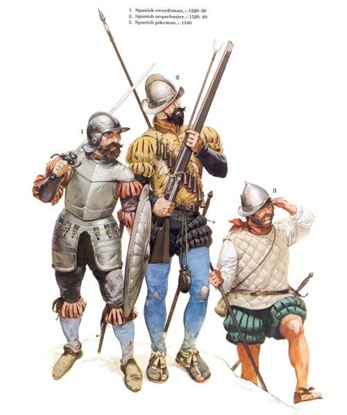 "1 - ацтекский ""воин-орел""; 2 - ацтекский ""воин-ягуар""; 3 - ацтекский жрец."
