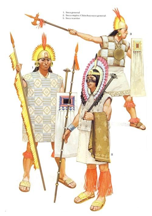 1 - полководец майя; 2 - воин майя; 3 - ополченец майя.