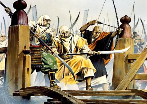 Тренировка воинов-монахов из Негороджи (1570 г.).