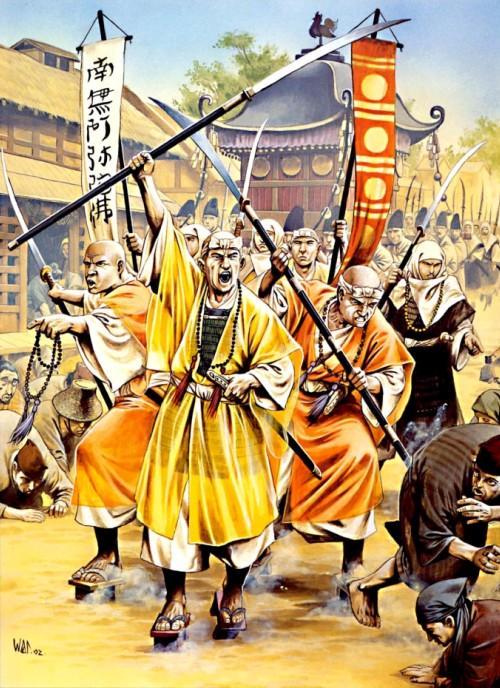 Оборона Токио воинами-монахами из Хокке-Шу от повстанцев икко-икки (1528 г.).