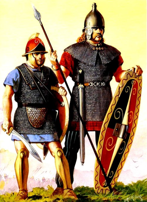 Карфагенский и кельтский воины (218 г. до н.э.).