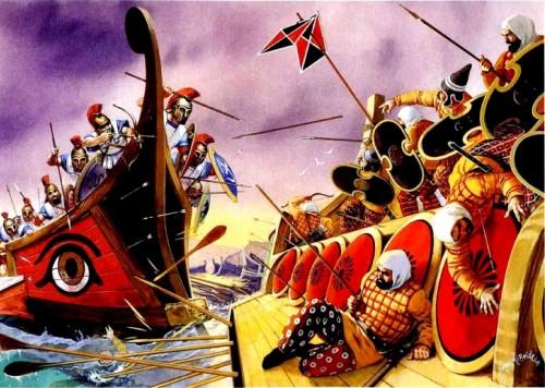 Саламинское сражение греков с персами (480 г. до н.э.).