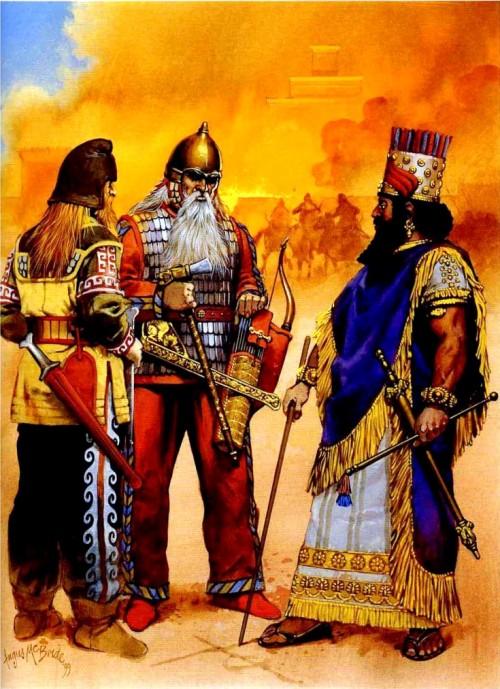 Царь Вавилона Набопалассар и царь скифов перед падением Ниневии (612 г. до н.э.).