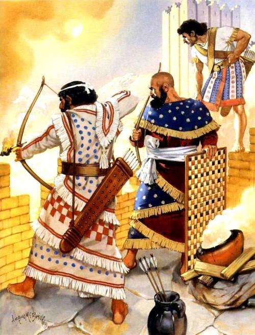 Сирийские лучники (XIV в. до н.э.).