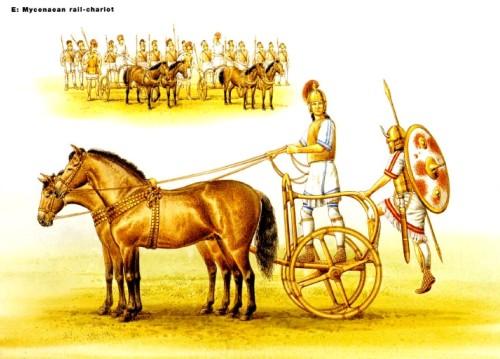 Микенская поручневая колесница