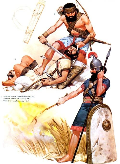 В до н э 2 ассирийский лучник viii в до н э