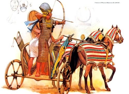 Колесница фараона Рамзеса II (1288 г. до н.э.)
